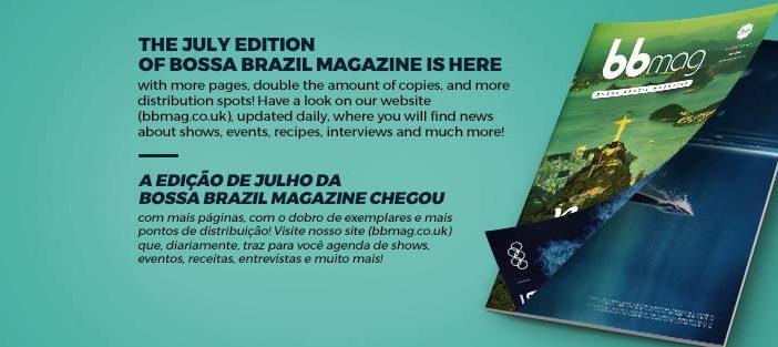 Bem-vindo à segunda edição da Bossa Brazil Magazine (BBMag)