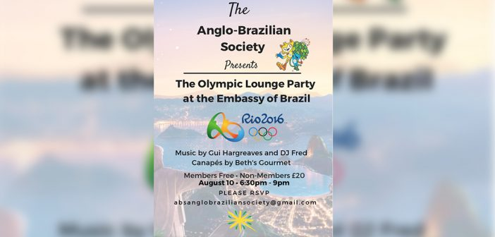 Anglo Brazilian Society invitation for Rio Olympic Lounge Event