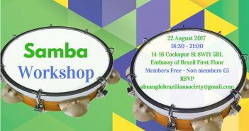 Anglo-Brazilian Society convida para Workshop de Samba
